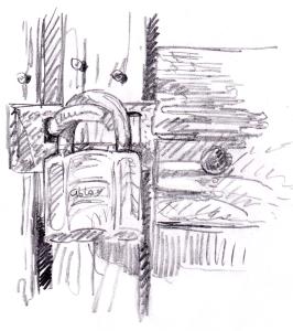Lukko ladon ovessa